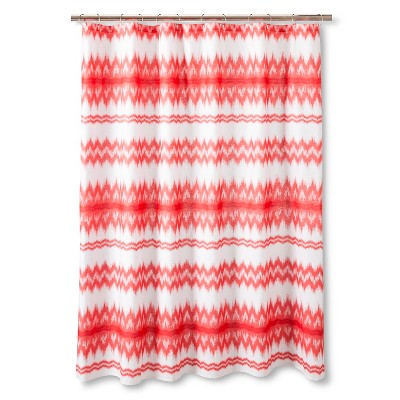 Sabrina Soto Ele Shower Curtain - White/Coral