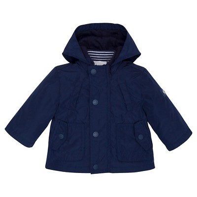 Chicco® Newborn Boys' Hooded Jacket - Navy 12 M