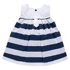 Chicco® Newborn Girls' Sleeveless Stripe Dress - Navy/White