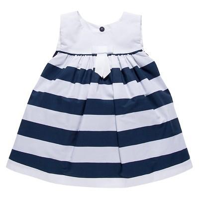 Ecom A Line Dresses Chicco Navy White 3-6 M