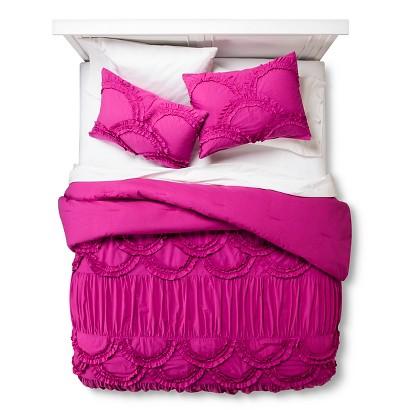 Boho Boutique Texture Comforter Set - Fuchsia (Twin)