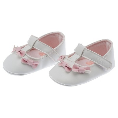Chicco® Newborn Girls' T-Strap Shoe - White 1.5