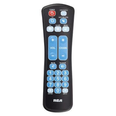 RCA Advanced Universal Large Button Remote Control - Black (RCRHM02BR)