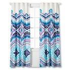 """Boho Boutique Utopia Window Panel - Blue/Fuchsia/ White (84"""")"""