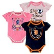Detroit Tigers Girls 3pk Body Suit