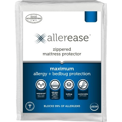 Maximum Bed Bug and Allergy Mattress Protector White (Twin) - AllerEase
