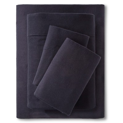 Threshold™ Flannel Sheet Set - Navy (King)