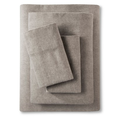 Threshold™ Heather Flannel Sheet Set - Gray (King)