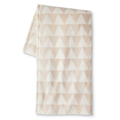 Room Essentials™ Micromink Printed Blanket - Ivory (Full/Queen)