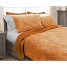 Stonewash Quilt Set - Tangerine