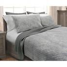 Stonewash Quilt Set - Gray