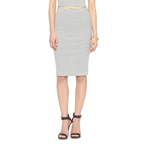 stripe bodycon pencil skirt black white leyden target