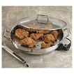 """CHEFS Stainless Steel Electric Skillet (16"""")"""