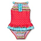 Toddler Girls' Floral One Piece Swimsuit