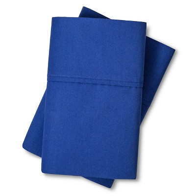 Organic Cotton 300 Thread Count Pillowcase Set (King) Blue - Threshold™