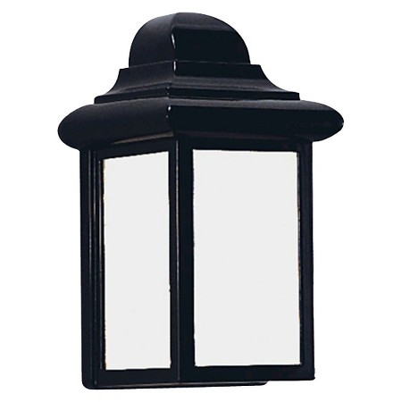Sea Gull 1 Light Outdoor Wall Lantern - Black : Target