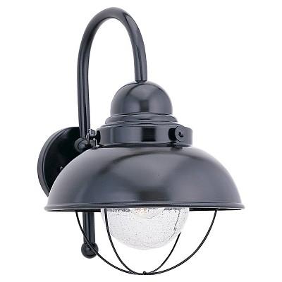 Sea Gull 1 Light Outdoor Wall Lantern - Black