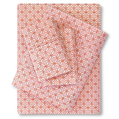 300 Thread Count Organic Sheet Set - Orange Geo (King) Threshold™
