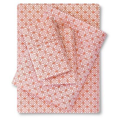 300 Thread Count Organic Sheet Set - Orange Geo (Queen) Threshold™