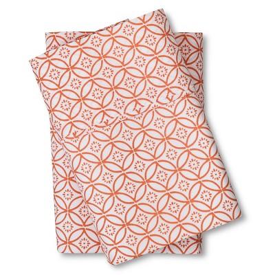 Threshold™ 300 Thread Count Organic Pillowcase - Orange Geo (Standard)