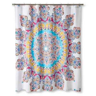 Gypsy Rose Shower Curtain Multi-colored Boho Boutique®
