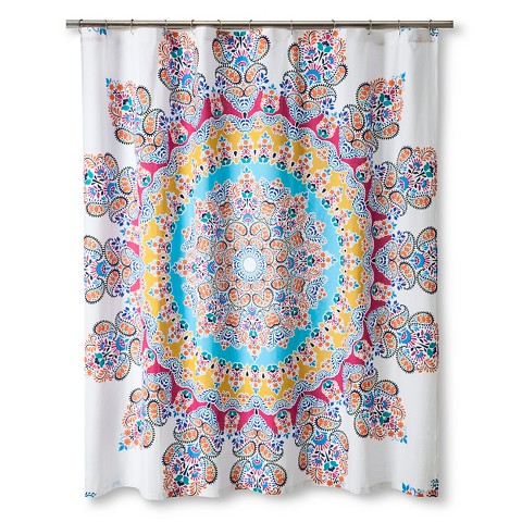 Gypsy Rose Shower Curtain Multi Colored Boho Bou Target