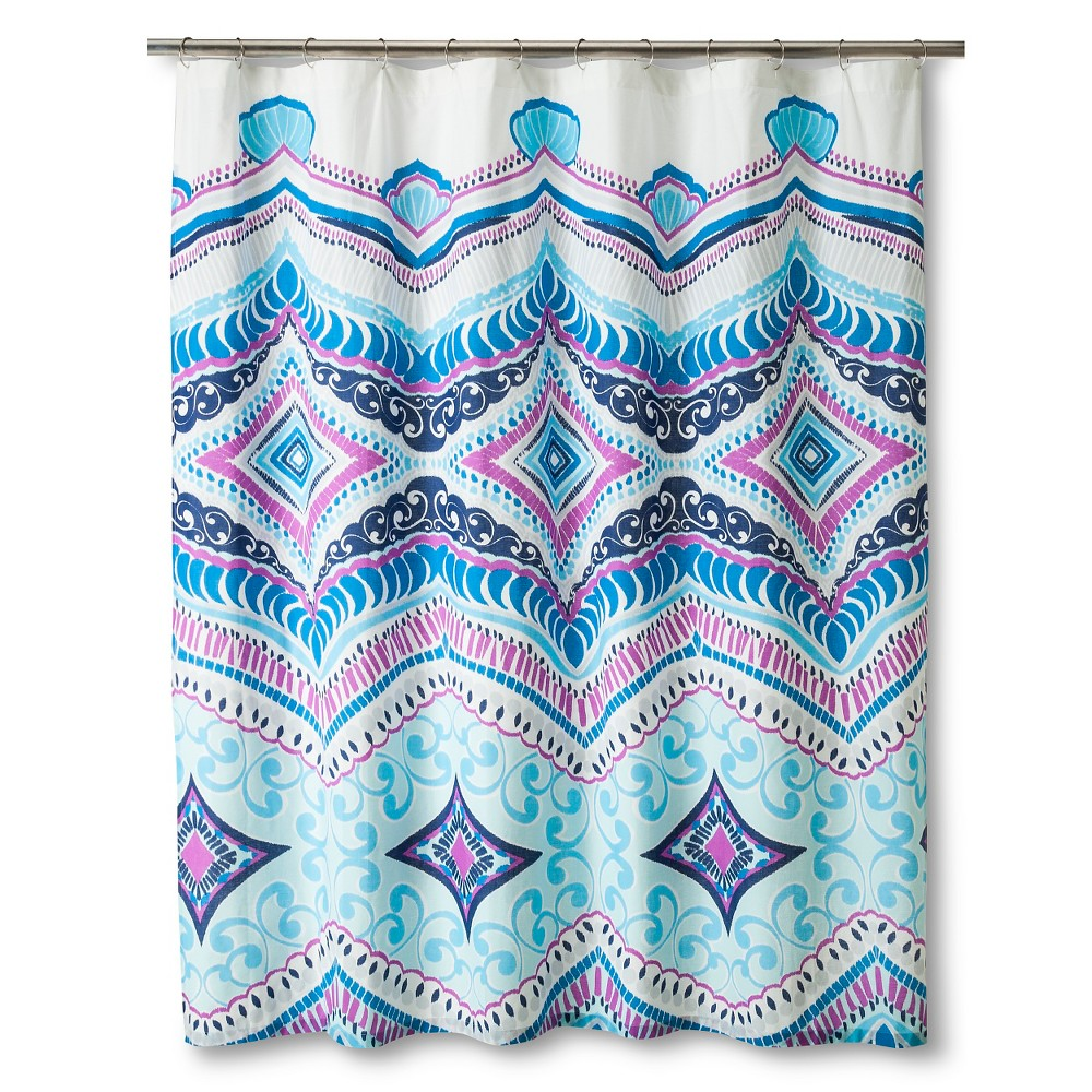 Shower Curtain Boho Boutique Diamond Royal