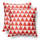 "Room Essentials™ 2-Piece Printed Suede Triangle Pillows(18x18"")"