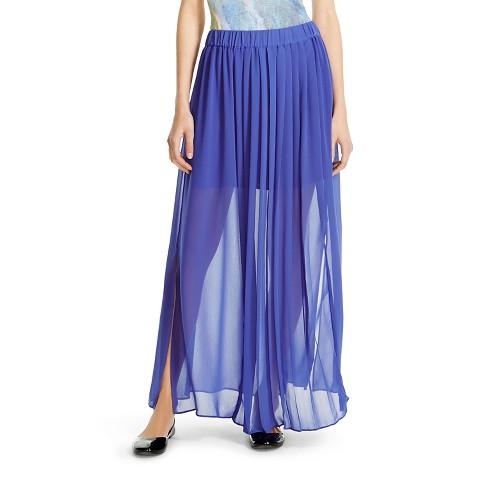 pleated maxi skirt mossimo