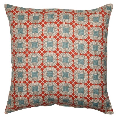 "Pillow Perfect Ferrow Throw Pillow - Red (23""x23"")"
