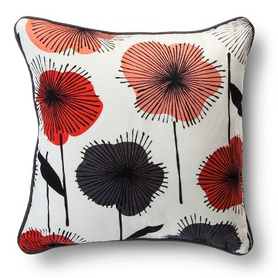 "Room Essentials™ Floral Burst Print Pillow - Warm (18x18"")"