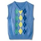 G-Cutee® Newborn Boys' Argyle Sweater Vest - Blue