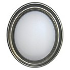 """Alpine Townsend Oval Wall Mirror with Silver Frame 25.25""""x29.25"""""""