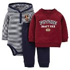 Just One You™ Made By Carter's® Newborn Boys' 3-Piece Football Set - Brown 9 M