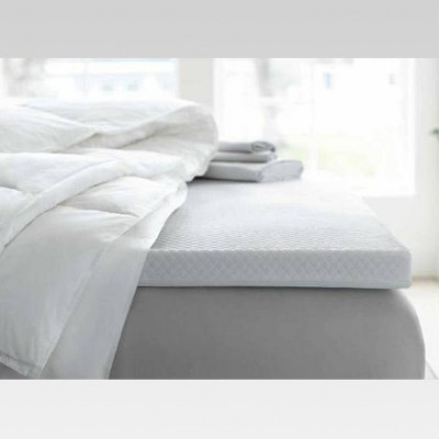 "Threshold™ 2"" Temperature Regulating Memory Foam Mattress Topper - White (Queen)"
