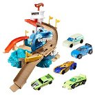 Hot Wheels Color Shifters Sharkport Showdown Mega Pack with 7 Die-Cast Cars