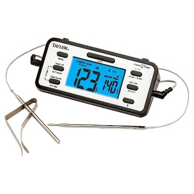Taylor Bluetooth Food Thermometer with Free App, Dual Probes and Timer