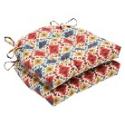 """Pillow Perfect Spritzer Admiral Reversible Chair Pad - Multicolored (16""""X15.5""""X4"""")"""