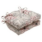 """Pillow Perfect Sonoma Reversible Chair Pad - Off White (16""""X15.5""""X4"""")"""