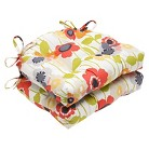 """Pillow Perfect Pic-A-Poppy Reversible Chair Pad - Red (16""""X15.5""""X4"""")"""