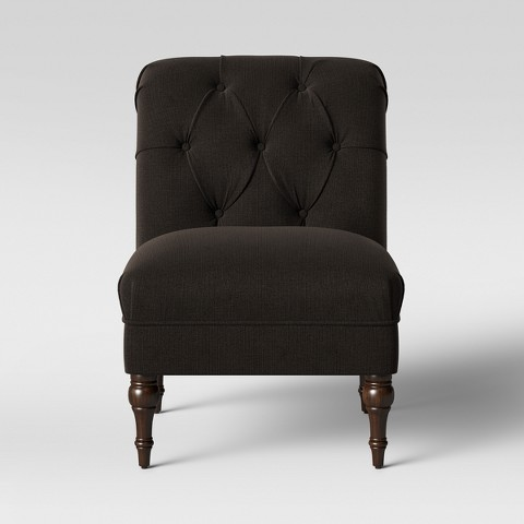 Threshold Tufted Back Slipper Chair Target
