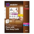 Avery® Flyers with Tear-Away Cards, 8-1/2 x 11, White, 5 Flyers/120 Cards