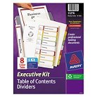 Avery® Ready Index Contents Dividers, 8-Tab, 1-8, Letter, Multicolor, Set of 8