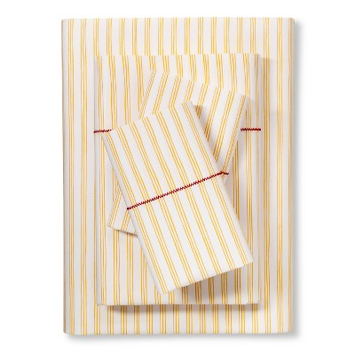 Brooklyn & Bond™ Fine Stripe Sheet Set King - Yellow