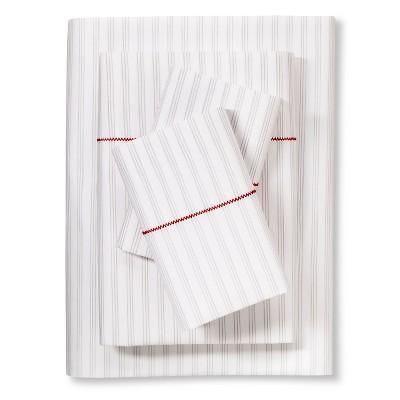 Brooklyn & Bond™ Fine Stripe Sheet Set Queen - Gray