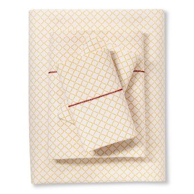 Brooklyn & Bond™ Diamond  Sheet Set Queen - Yellow