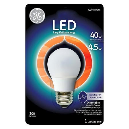 description page ge led 40 watt ceiling fan light bulb soft white. Black Bedroom Furniture Sets. Home Design Ideas