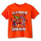 The Avengers Toddler Boys' Superheroes T-Shirt - Orange