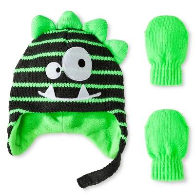 Toddler Girls' Handwear Stripe Green 12-24M - Cherokee®