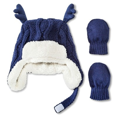 Toddler Boys' Hat And Hand Wear Set Blue 12-24 M - Cherokee®